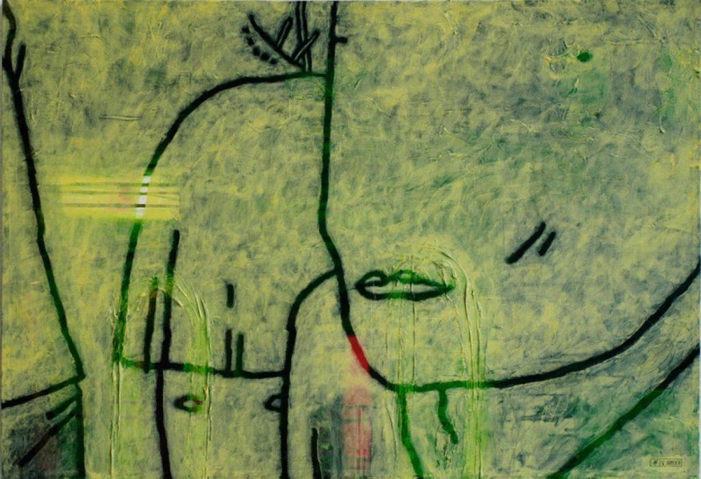 Der gelbe Ton III, Acryl auf Nessel, 60 x 87 cm, in Privatbesitz