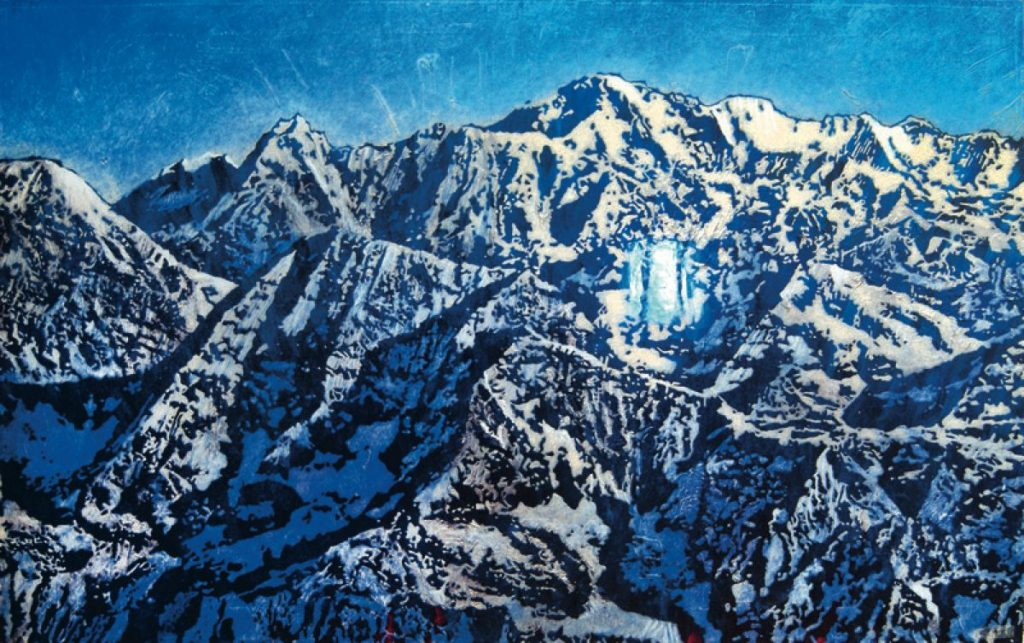 Himalaja, Acryl auf Nessel, 80 x 127 cm, in Privatbesitz