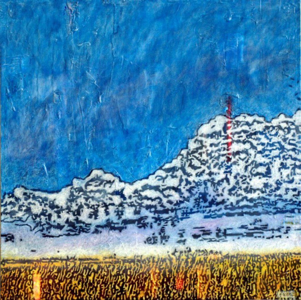 Horizont I – III, Acryl auf Nessel, je 60 x 60 cm