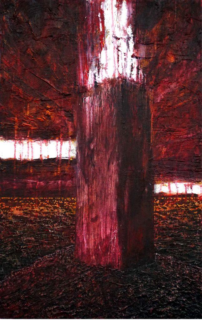 Im Rausch der Stille, Acryl auf Nessel, 80 x 50 cm, in Privatbesitz