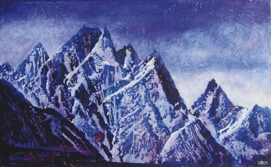 Karakorum, Acryl auf Nessel, 50 x 80 cm