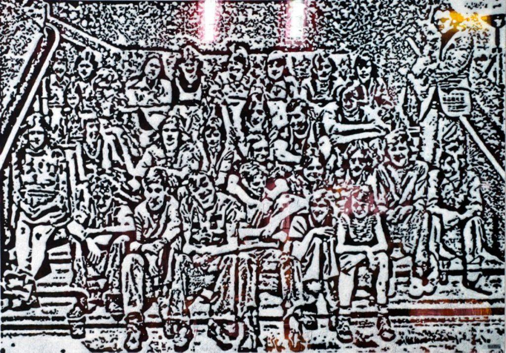 Klasse I, Acryl auf Nessel, 126 x 180 cm