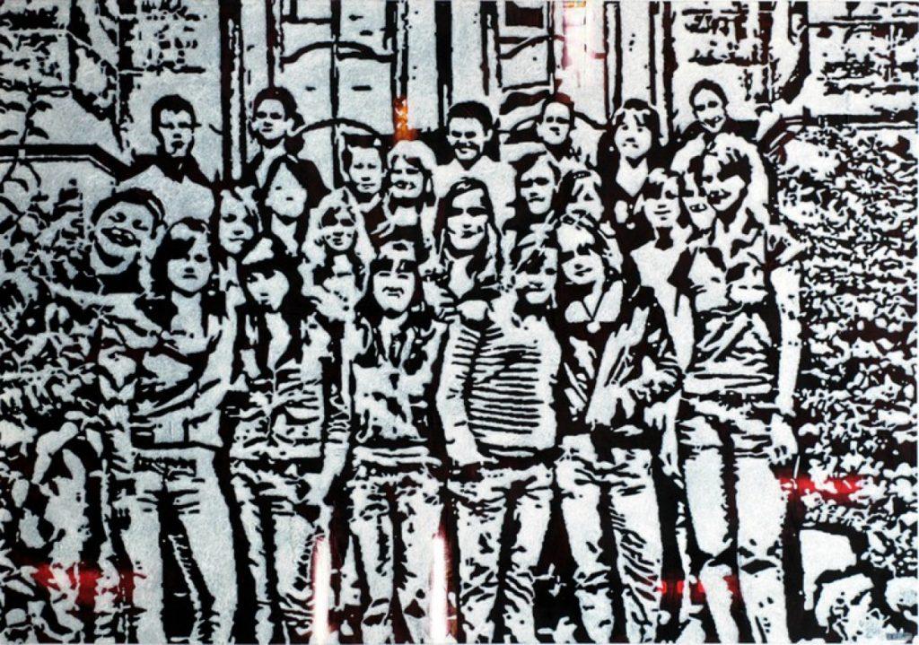 Klasse II, Acryl auf Nessel, 126 x 180 cm