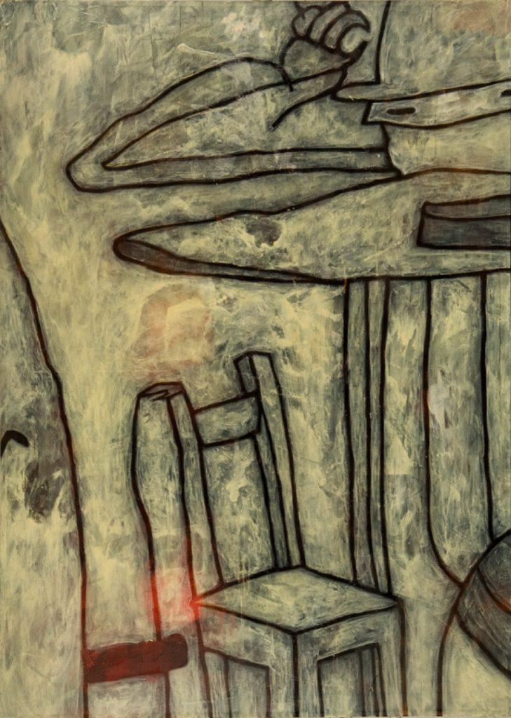 Magnifikation 1, Acryl auf Nessel, 140 x 100 cm