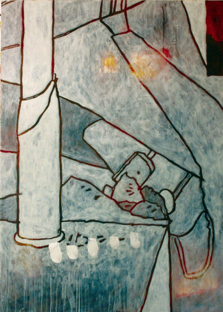Magnifikation 10, Acryl auf Nessel, 140 x 100 cm