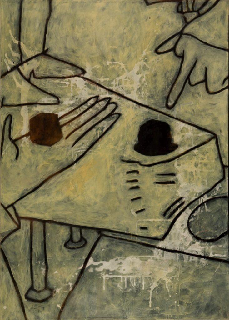 Magnifikation 2, Acryl auf Nessel, 140 x 100 cm