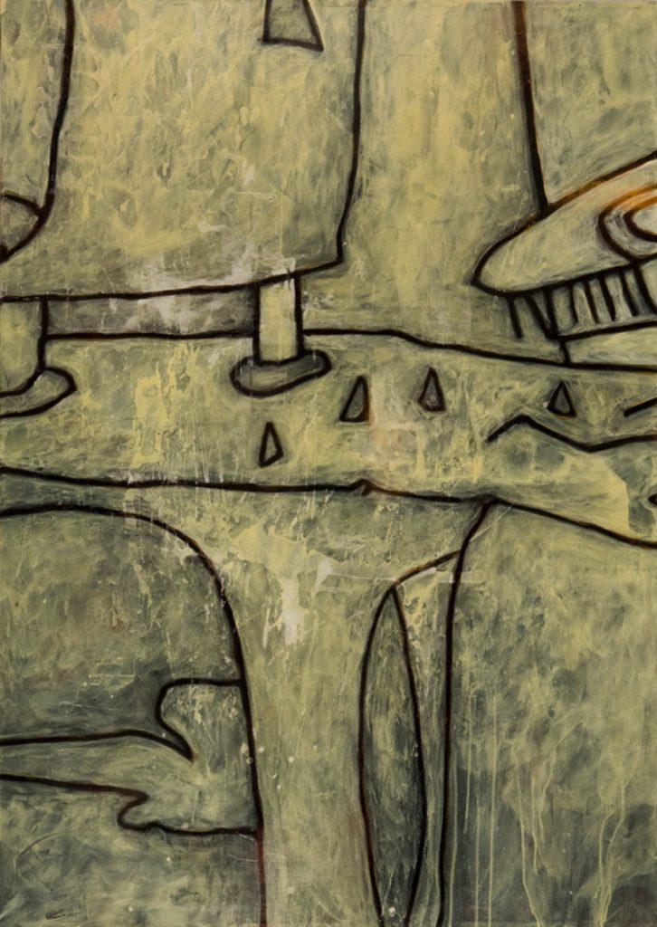 Magnifikation 8, Acryl auf Nessel, 140 x 100 cm