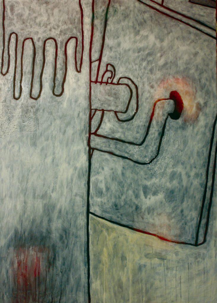 Magnifikation 9, Acryl auf Nessel, 140 x 100 cm