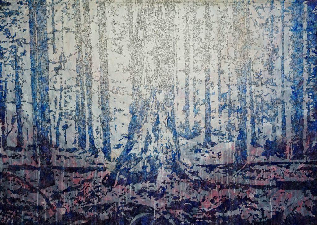 Meilensteine der Prokrastination I, Acryl und Marker auf Nessel, 100 x 140 cm