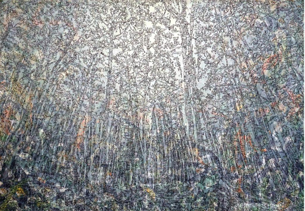 Meilensteine der Prokrastination II, Acryl und Marker auf Nessel, 100 x 140 cm