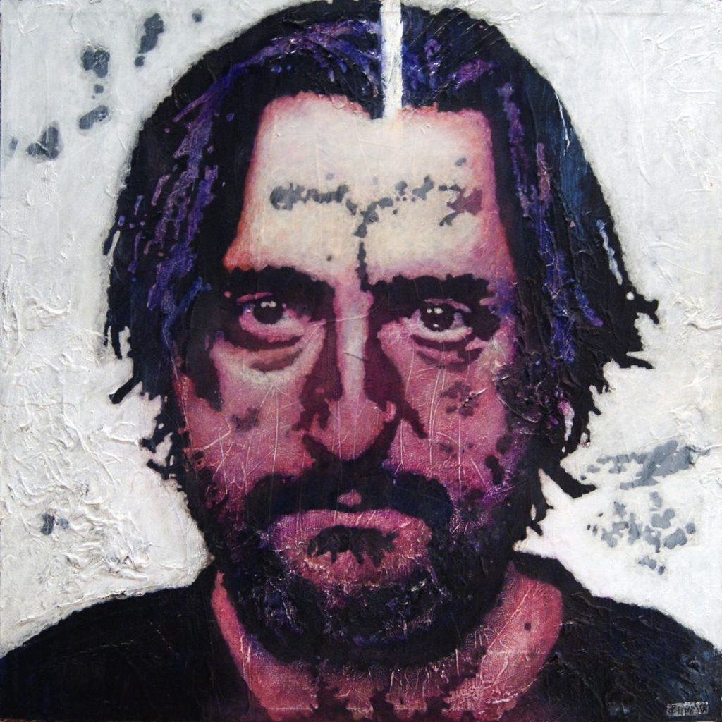 Selbstportrait, Acryl auf Nessel, 50 x 50 cm