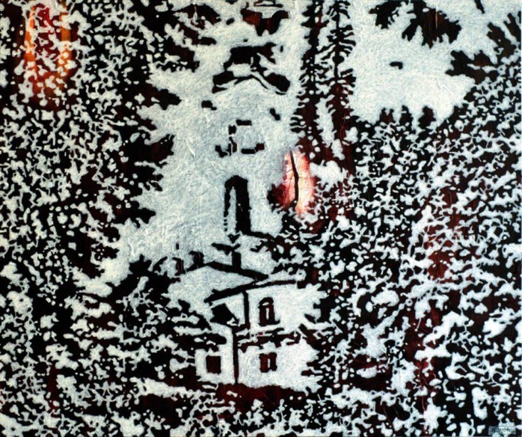 Spuren III, Acryl auf Nessel, 65 x 80 cm