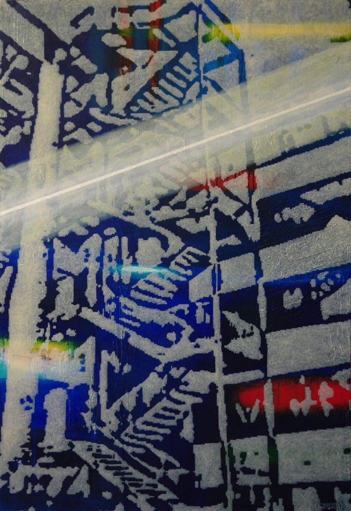 Verstiegenheit, Acryl auf Nessel, 130 x 90 cm