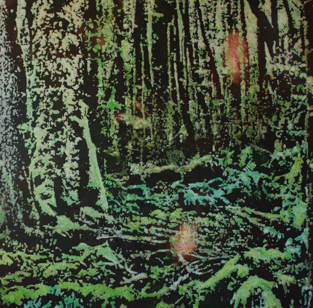 Wald III, Acryl auf Nessel, 170 x 170 cm