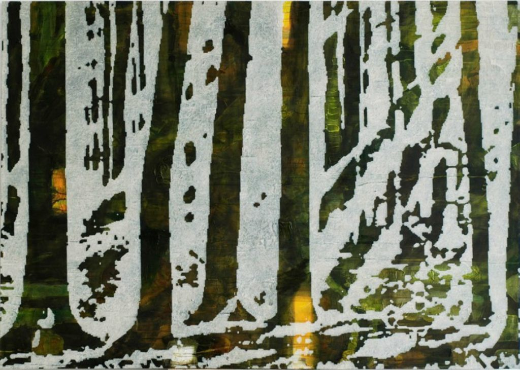 Wald XX, Acryl auf Nessel, 120 x 170 cm, in Privatbesitz
