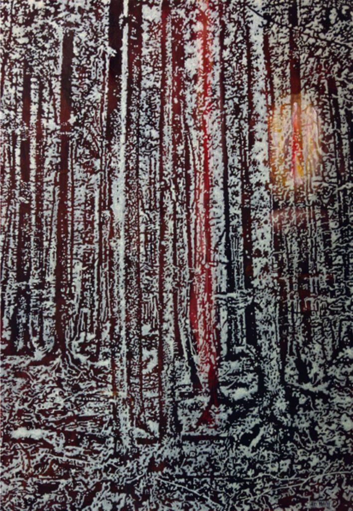 Waldemar, Acryl auf Nessel, 87 x 60 cm, in Privatbesitz