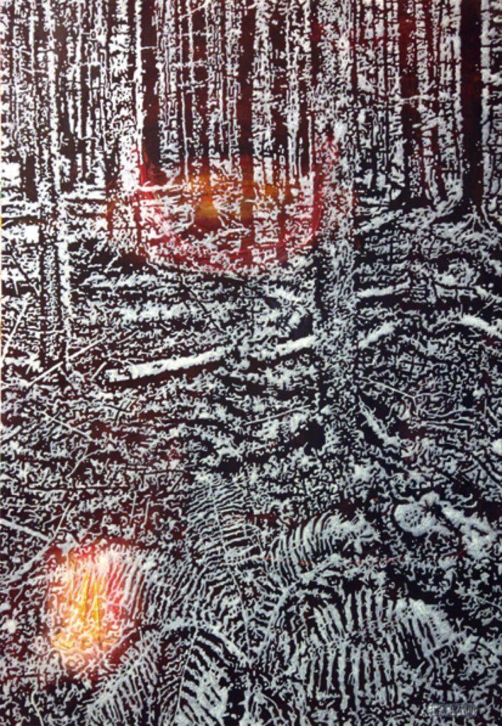 Waldtraut, Acryl auf Nessel, 87 x 60 cm, in Privatbesitz