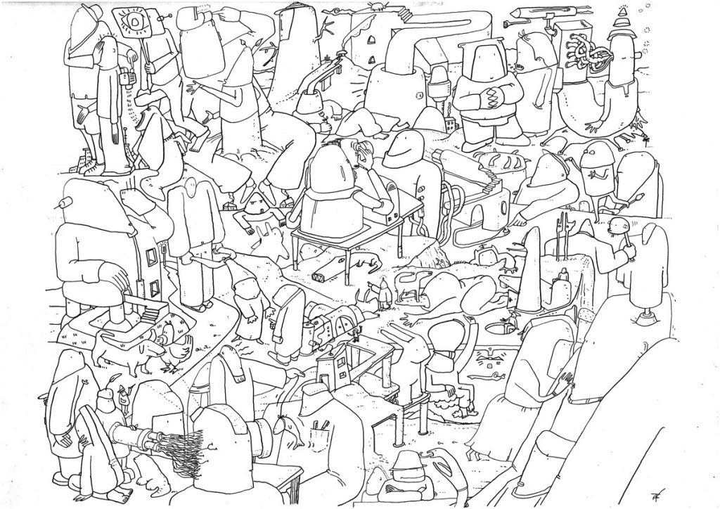 Zeichnungen 1 - 24. Bleistift auf Zeichenkarton, je 29 x 35 cm