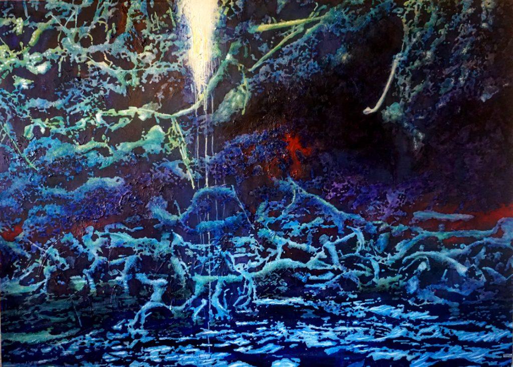 An den Ufern zu Babel, Acryl auf Nessel, 129 x 180 cm